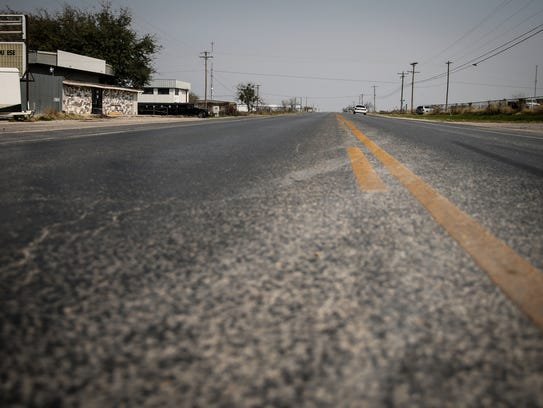 Christoval Road in San Angelo by the former Party Ranch.