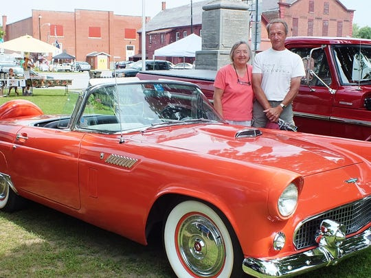 This 1956 Ford Thunderbird, a Baby T-Bird, is owned by Timothy and Lorraine Raymond of Highgate Springs.