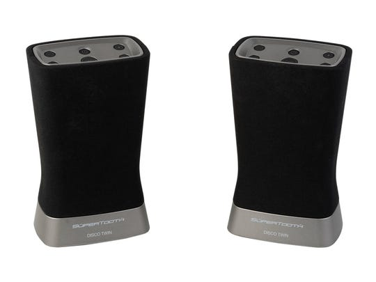 The Supertooth Disco Twin comes with two Bluetooth speakers and a built-in rechargeable battery.