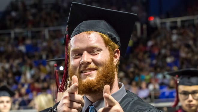 Stewarts Creek High School's graduation was held at MTSU Thursday, May 17, 2018.