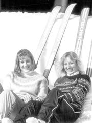 Straight skis and ski sweaters, a classic 1980s look at Bolton Valley.
