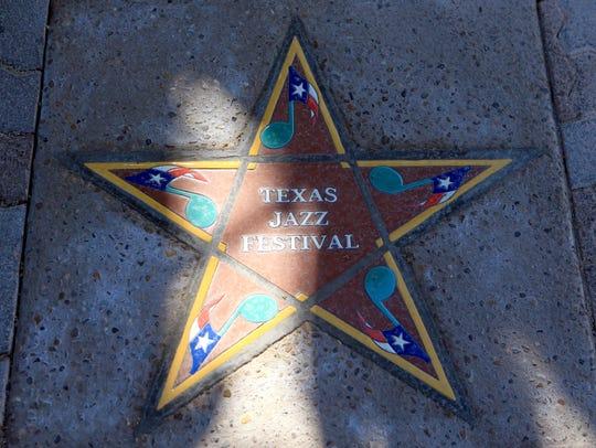Texas Jazz Festival's star was installed Thursday,