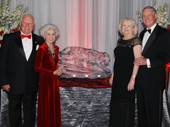 """Dr, Anthony and Sara Catanese, left, and Phillip and Jeanne Farmer attend the President's Gala to celebrate the successful conclusion of Florida Institute of Technology's """"Create The Future"""" capital campaign on April 23 at the Charles and Ruth Clemente Center on the Florida Tech campus."""