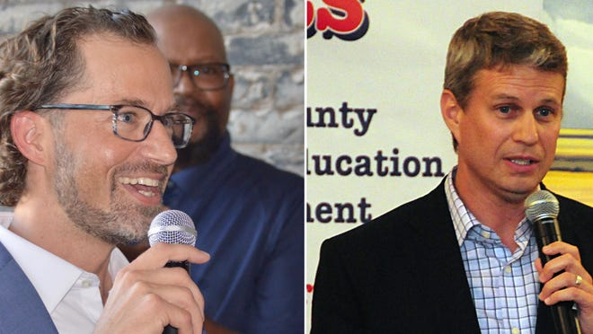 Rep. Bill Huizenga, R-Zeeland, right, is being challenged for his District Two seat by Bryan Berghoef, D-Holland. A debate between the two candidates has been rescheduled for Thursday, Oct. 22.