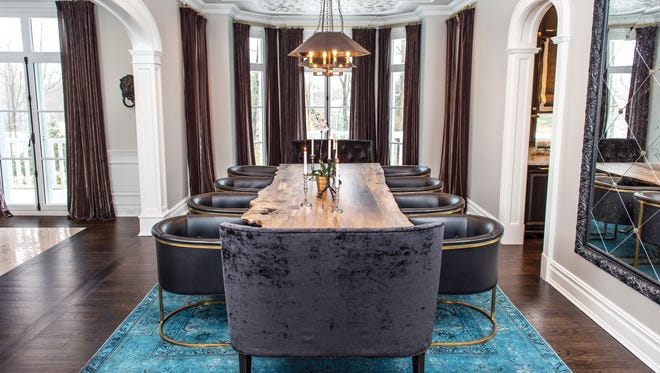 Dining room table created by Brooklyn-based artisan woodworker Palo Samko