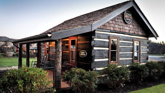 Biltmore's Outdoor Adventure Center was built using logs that were once part of Biltmore founder George Vanderbilt's old Mount Pisgah retreat.