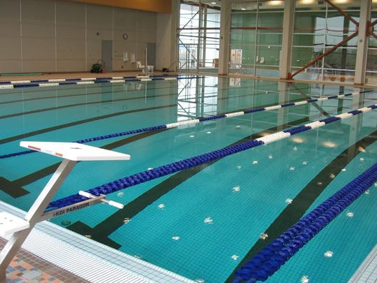 A lap swimming pool at the Andover YMCA in Andover, Kansas, represents a feature possible at the proposed St. Cloud Area YMCA aquatics and community center.