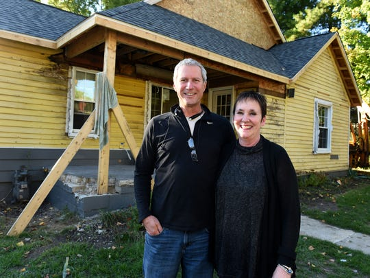 Jim and Laurie Nordin at their East Street home in