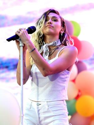 Miley Cyrus performs during 102.7 KIIS FM's 2017 Wango Tango.
