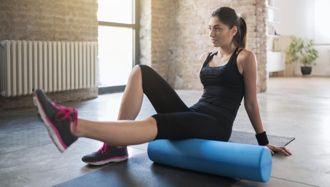 Foam rolling self massage's benefits include: Improving flexibility; Reducing muscle soreness; Improving joint range of motion; and reducing stress levels.