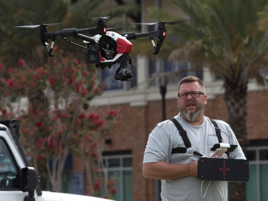 Rick Simpson, president and pilot at Hover Check Drone