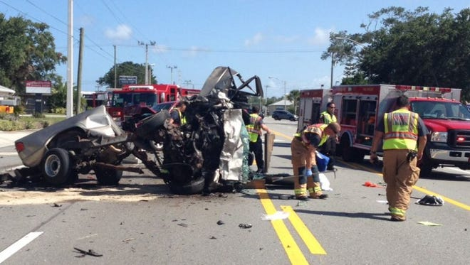 A crash on U.S. 1 in Melbourne shut down the roadway in both directions on Thursday afternoon.