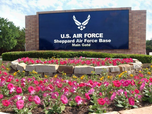 Sheppard Air Force Base main gate