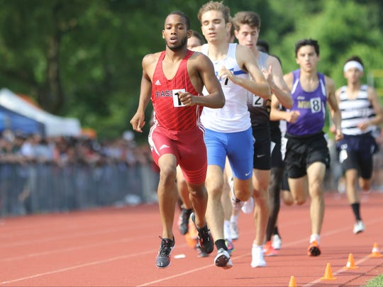 Luis Peralta, of Passaic, came in first in the 800 with a time of 1:49. Saturday, June 9, 2018