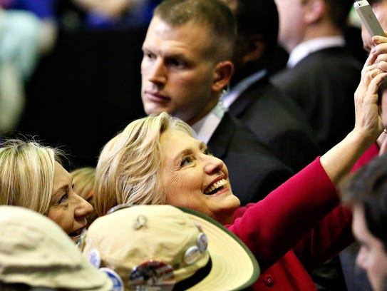 Hillary Clinton speaks at Zembo Shrine in Harrisburg