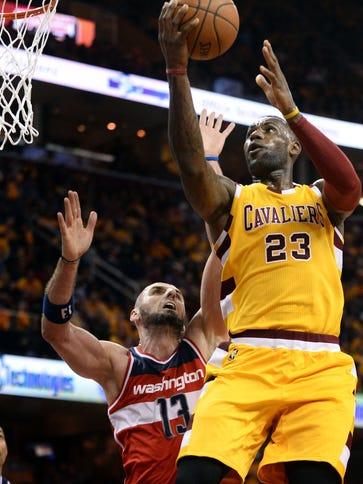 Cleveland, OH, USA; Cleveland Cavaliers forward LeBron