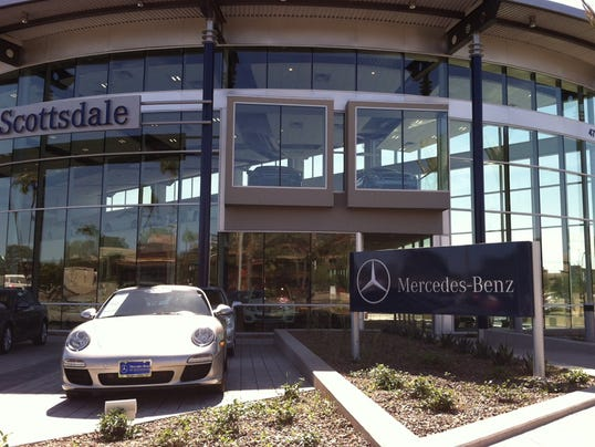 Mercedes dealership in downtown scottsdale draws strong for Phoenix mercedes benz dealers
