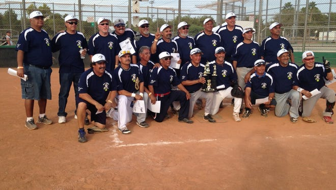 The El Paso Old School Men's Senior Softball 55-60 Double-A team won the World Master Championships in Las Vegas on Sept. 27.  The slow-pitch softball national tournament attracted more than 500 teams. The El Paso team was led by all-star players Alex Guardiola, Pancho Lara, Raul Nuñez, David Castillo, Tavo Oaxaca and Manny Flores, who was named Most Valuable Player. The team went undefeated. Each player will receive a souvenir ring for the accomplishment.