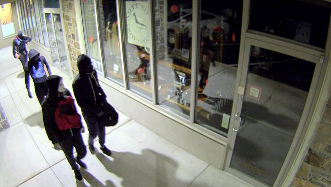 Four young men broke into Artemis Outfitters in Greenville on July 22, 2016, and stole 27 handguns.