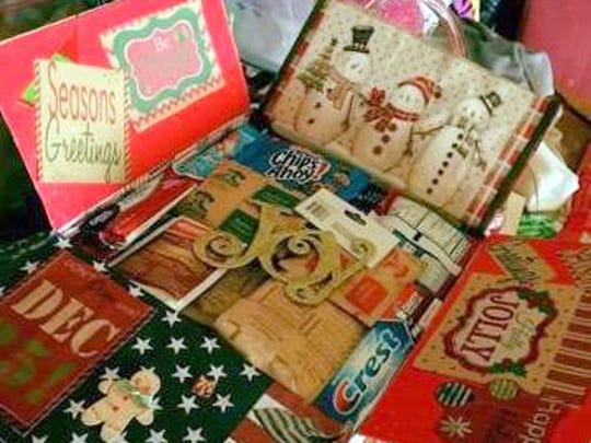 A sample of what an Operation Secret Santa care package will look like.