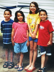 The Trevino kids, left to right: Cole, Katelyn, Kwyn