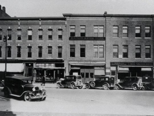 182-190 Main St. in Burlington, Champlain College's location from 1911 to 1958.