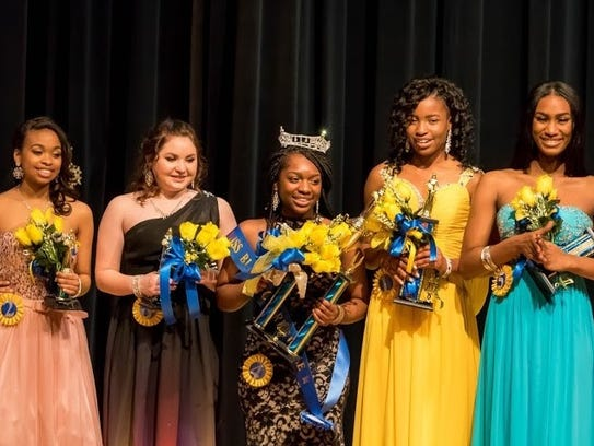 Senior Miss contestants for 2017 are, from left to