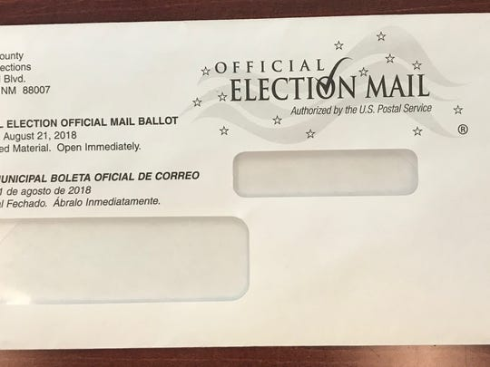 Envelope in which ballots will be mailed.