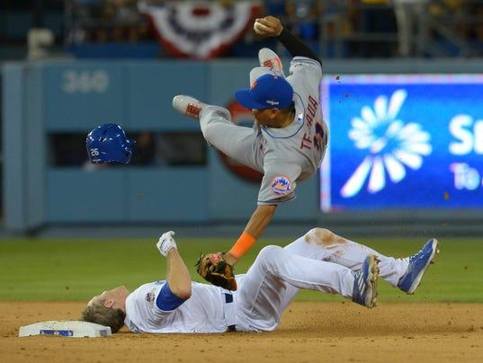 USP MLB: NLDS-NEW YORK METS AT LOS ANGELES DODGERS S BBN USA CA