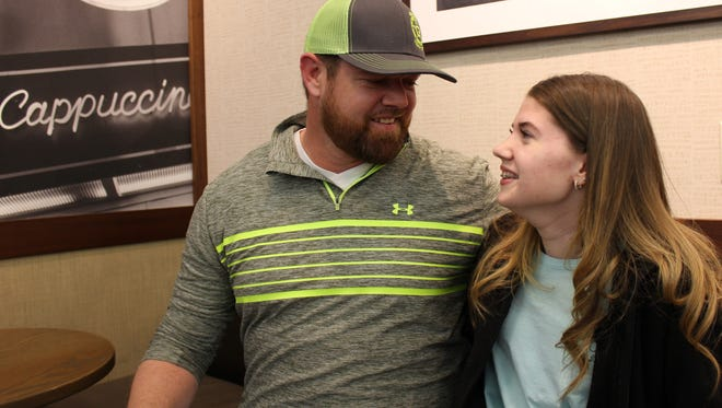 George and Alyvia Colvin are father and daughter among 15 Abilene Idol contestants Saturday.