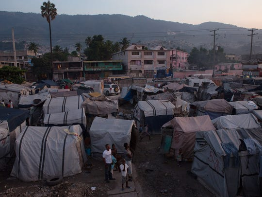 Many people continue to live in tent cities that sprung up after the 2010 earthquake.