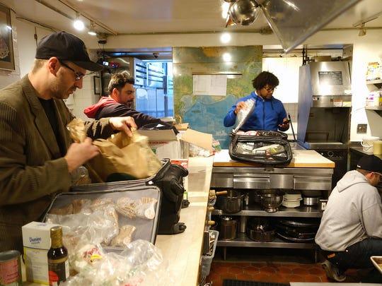 Chefs Bernie Kantak, Gio Osso, Stephen Jones and Scott