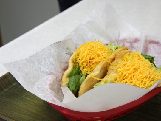 Try the fluffy fried flour taco shells at Tasty Taco.