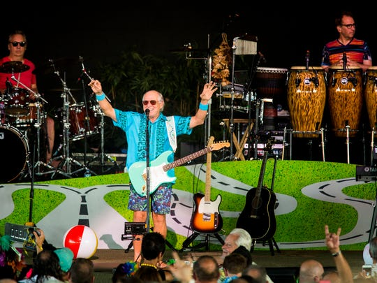 "Jimmy Buffett and the Coral Reefer Band perform at Riverbend Music Center for their ""I Don't Know"" tour Tuesday, June 21, 2016."