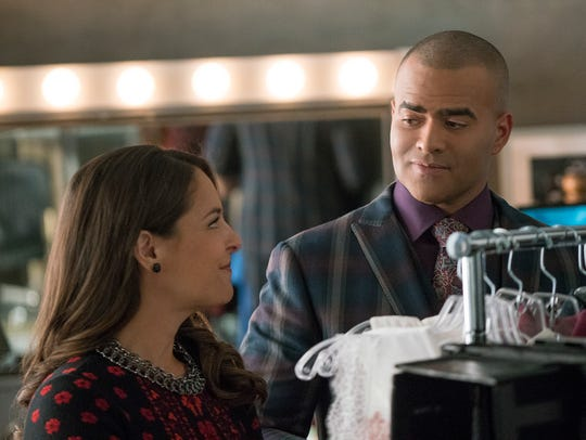 Yara Martinez and Christopher Jackson in a scene from