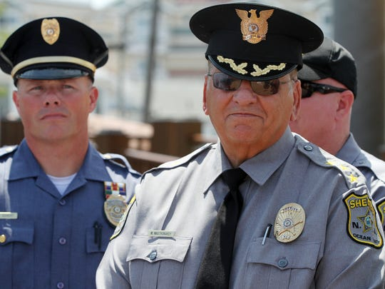 Ocean County Sheriff Michael G. Mastronardy (right).