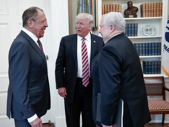 U.S. President Donald Trump meets with Russian Foreign
