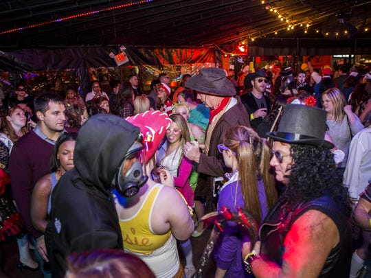 The Halloween Loop party rages at Wilmington's Firestone Roasting House in 2014.