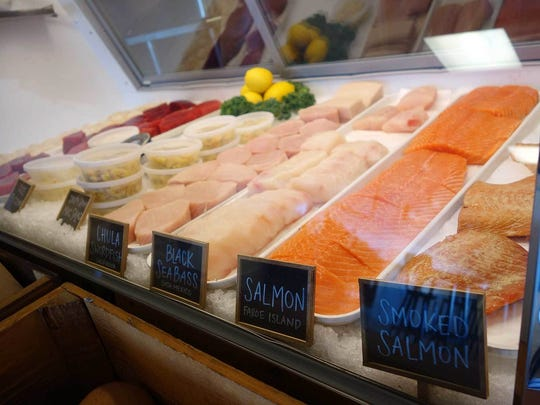 The fish case at Chula Seafood features a mix of Chula's