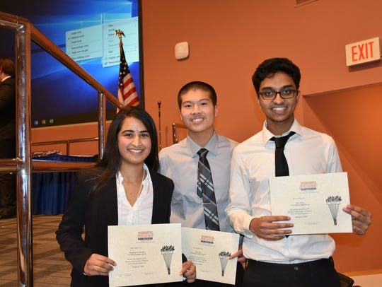 Farmington High School BPA students Meghana Nyalakonda,