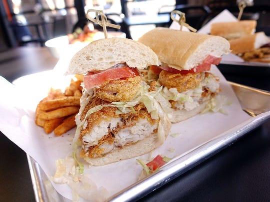 The catfish and shrimp po'boy from Mingo's Louisiana