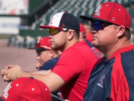 Red Land JV coach Tom Peifer watches Red Land plays