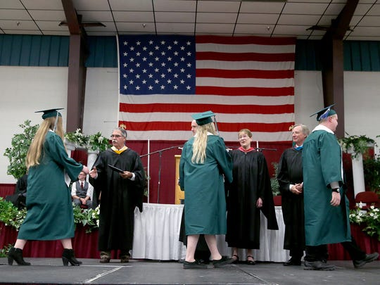 The Klahowya Secondary School 2018 commencement ceremony at the Kitsap Sun Pavilion on Saturday, June 16, 2018.