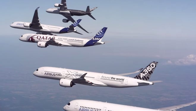 Airbus risked 5 of its planes — each worth $300 million — in an aerial stunt.