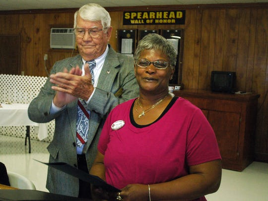 U.S. VFW Auxiliary President Francisca Guilford received