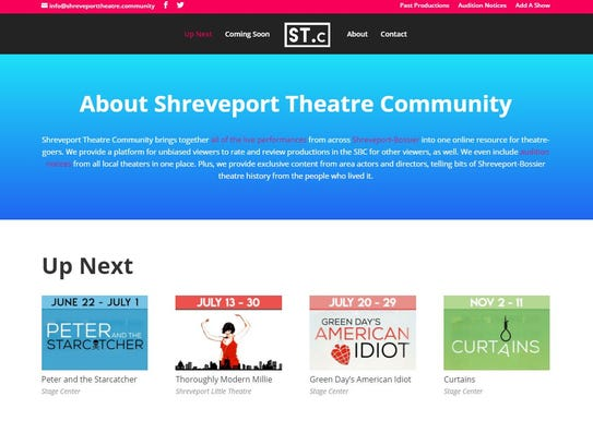 A screengrab of the Shreveport Theater Community.