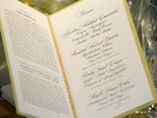 A menu for the state dinner for Canada in the State