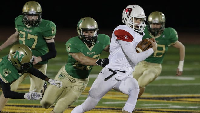 Wisconsin Rapids quarterback Ben Olson threw 20 touchdown passes this fall and rushed for five more. He was selected as the Valley Football Association-South Division offensive player of the year.