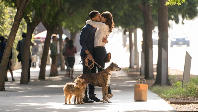 """Tone Bell and Nina Dobrev in """"Dog Days."""""""