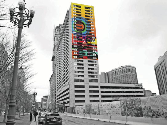 """A photo illustration of what the mural titled """"Rise"""""""